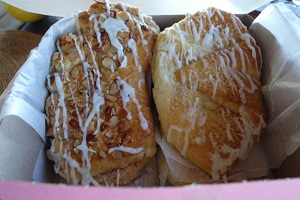 Bear claw and Danish