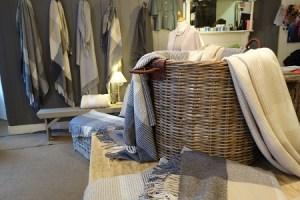 Fine Irish linens, cotton and wool