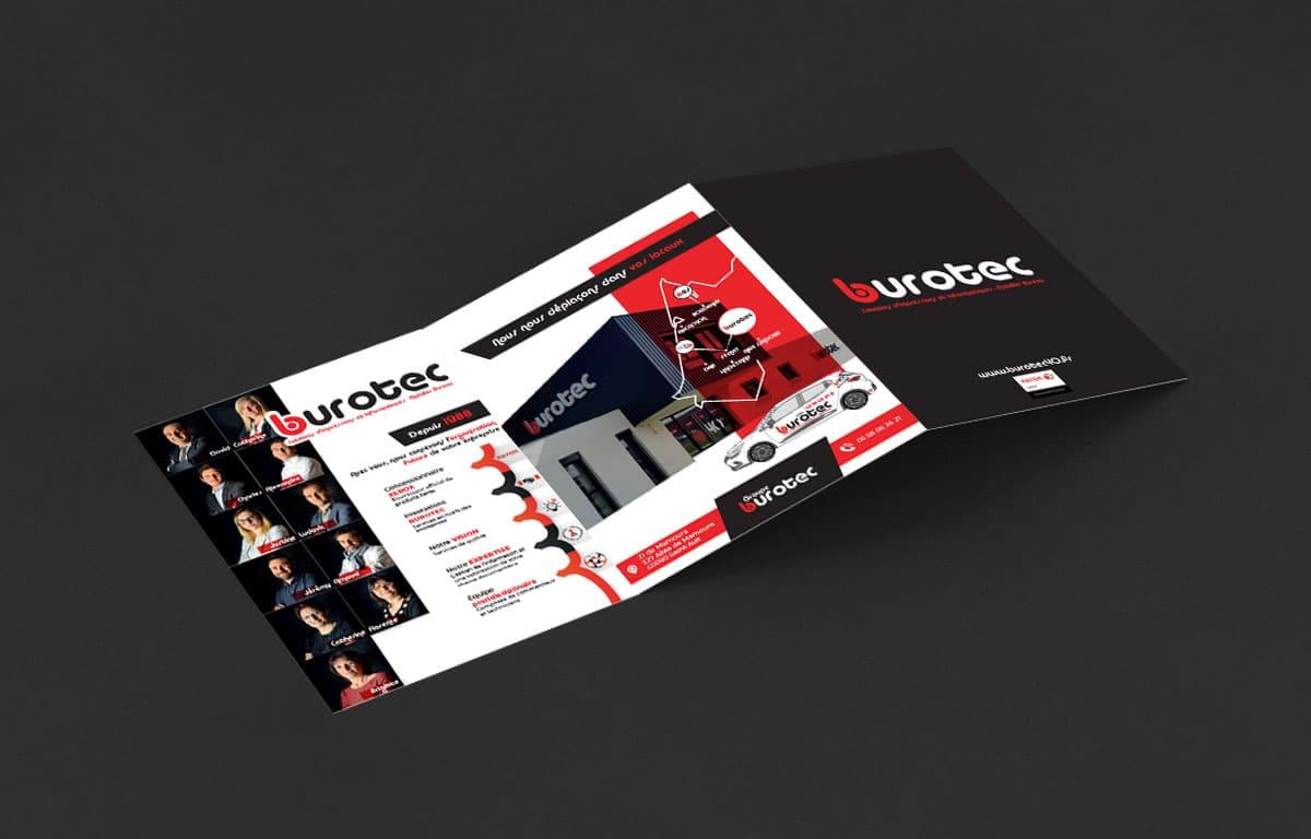 RéalisAgence graphics réalise plaquette commerciale Burotec40