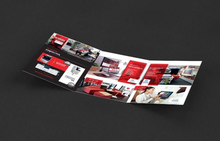 Réalisation et création de la plaquette commerciale Burotec40 par Agence Graphics