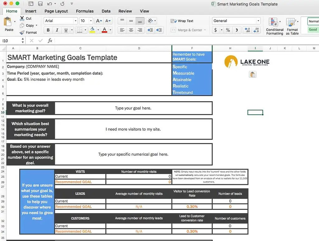 Ultimate Guide To Setting Smart Marketing Goals Lake One