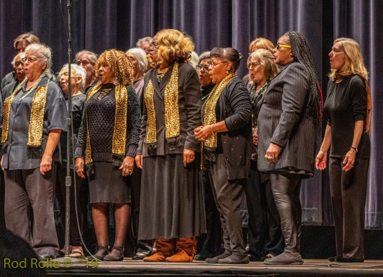 (January 2019) Coastal West Community Choir. MLK Jr holiday, MLKSB Morning Program at the Arlington Theatre, Santa Barbara, CA.  (Photo by Rod Rolle)