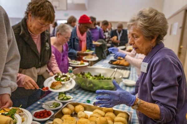 (January 2017) Community Lunch at First United Methodist Church after the Arlington Theatre program.  MLK Jr holiday, MLKSB Afternoon Program in Santa Barbara, CA.  (Photo by Rod Rolle)