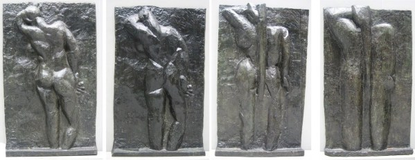 Matisse left to right The Back I 1908 09 The Back II 1913 The Back III 1916 The Back IV c 1931 bronze Museum of Modern Art New York City