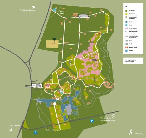Map sculpture garden winter 2016