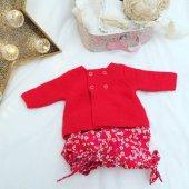 Bloomer, short, culotte bouffante, tissu liberty of London Mitsi rouge rose - 12 mois
