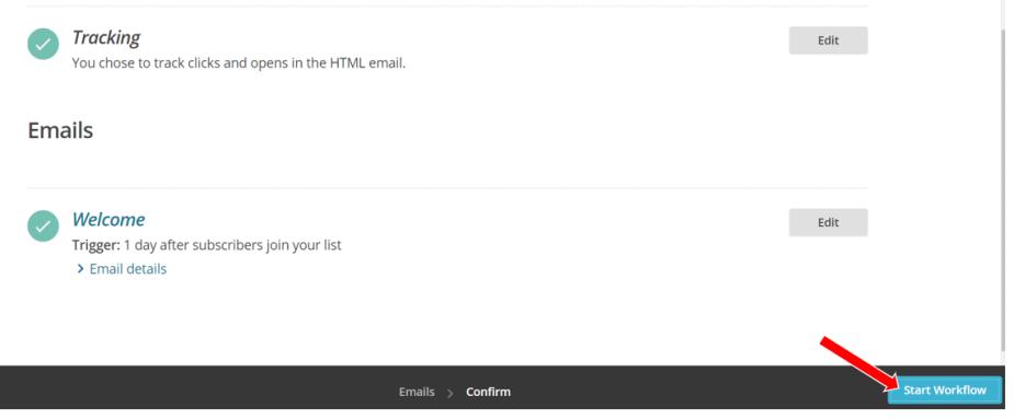 Start Email Workflow