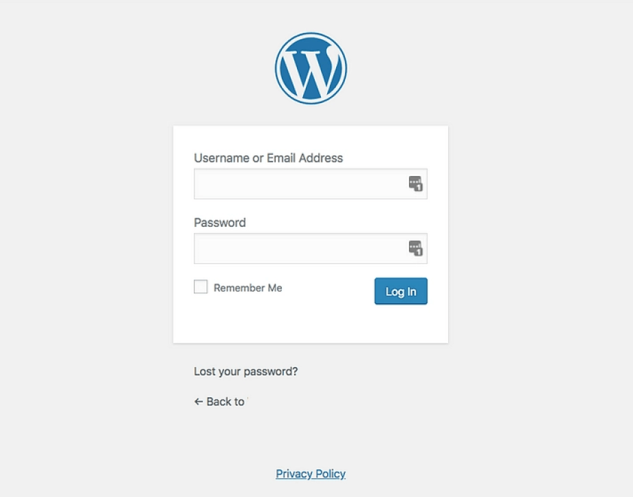 Login no WordPress
