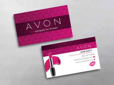 images for avon business card template