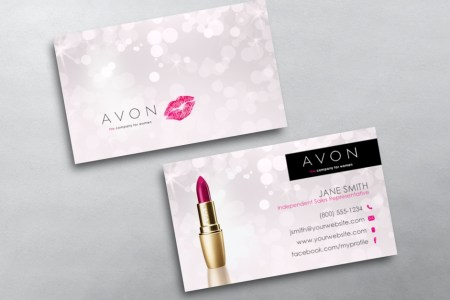 Avon Business Cards   Free Shipping Avon Business Card 03