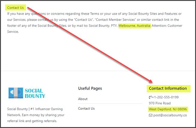 social bounty coordonnées