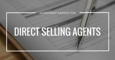 sample agreement for direct selling agents
