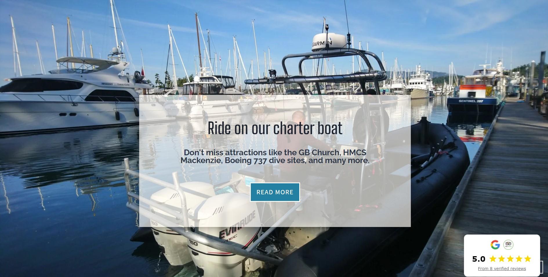 Charter boat landing
