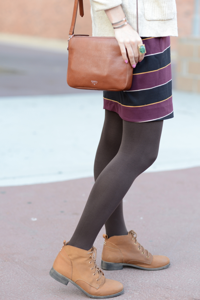 fossil crossbody bag and steve madden booties, M Loves M
