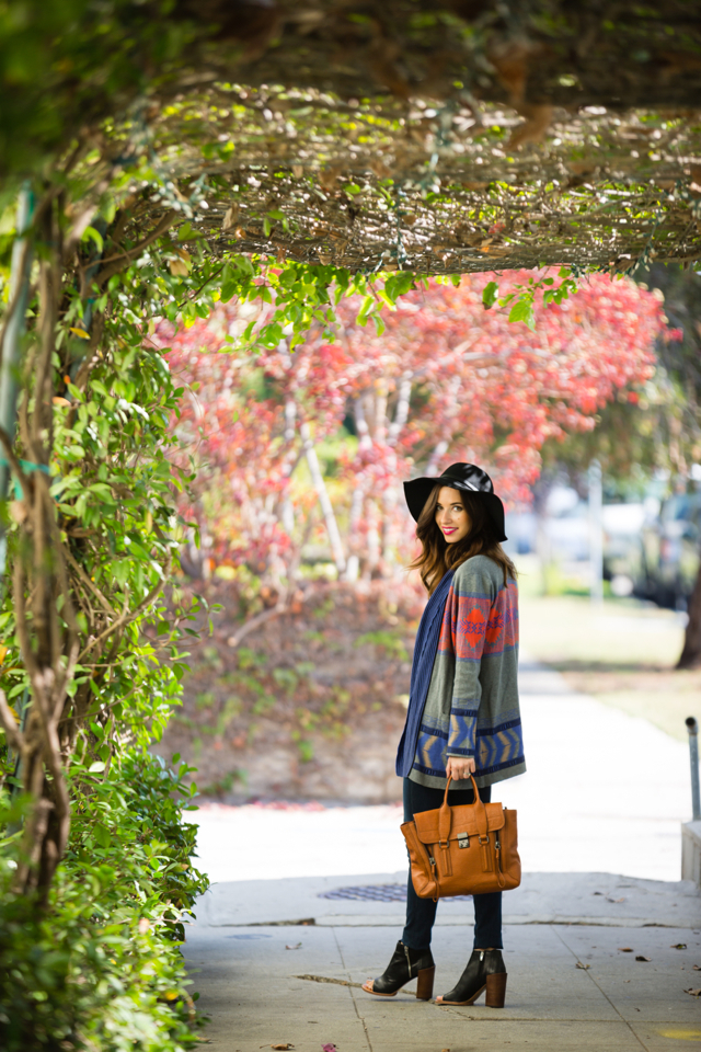 fall outfit with cynthia vincent cardgian and AG jeans via M Loves M @marmar