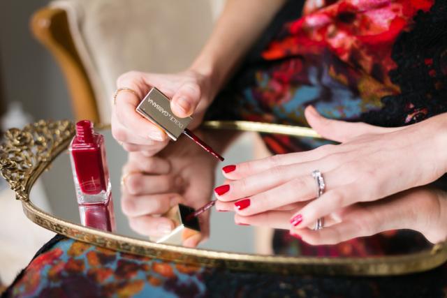 ruby red nail polish @marmar