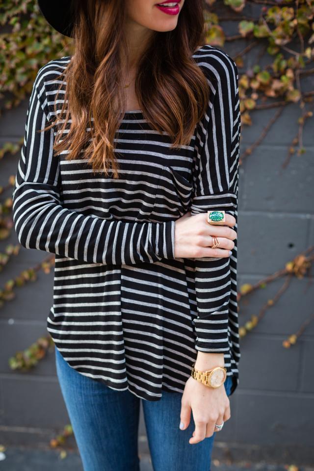 long sleeve striped top M Loves @marmar