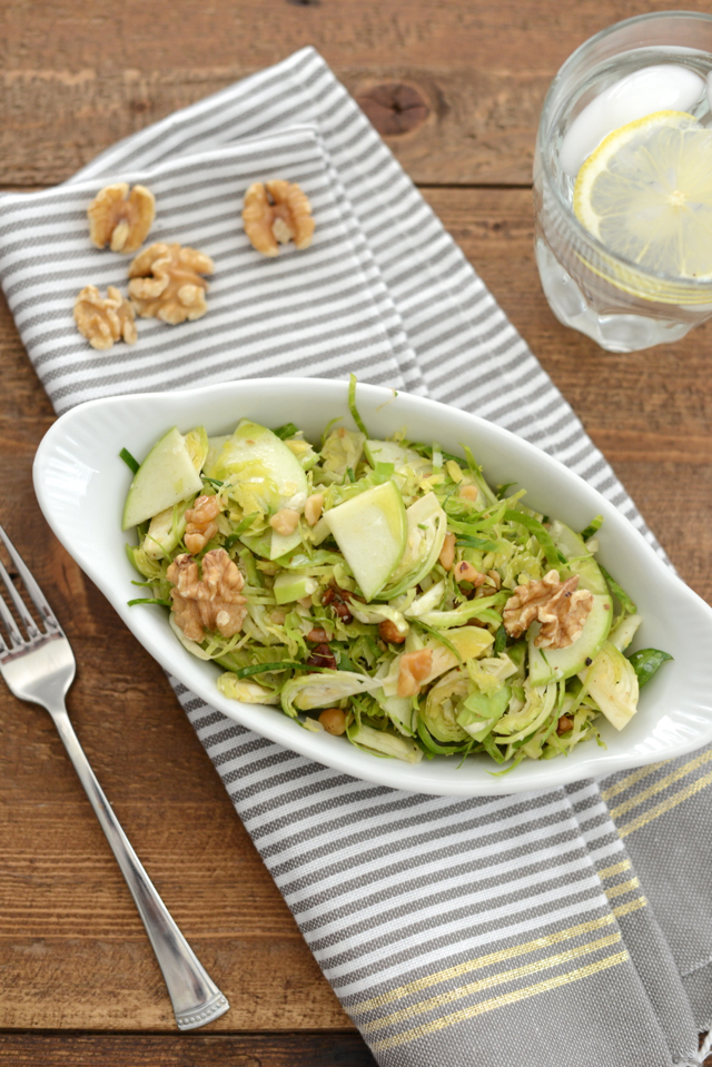 shaved brussels sprout salad with walnuts and apples M Loves M @marmar