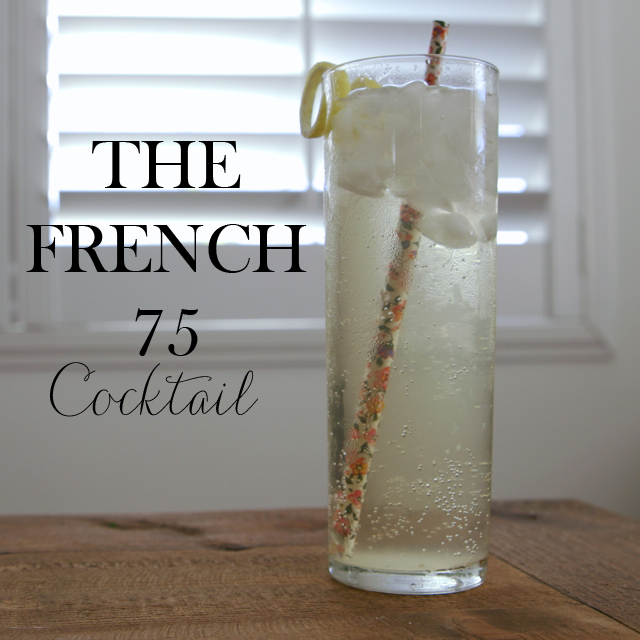 the french 75 cocktail recipe and video M Loves M @marmar