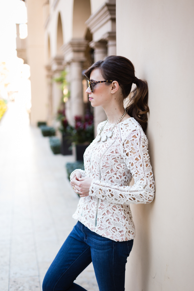 stylestalker lace heat top and AG 360 jeans on M Loves M @marmar