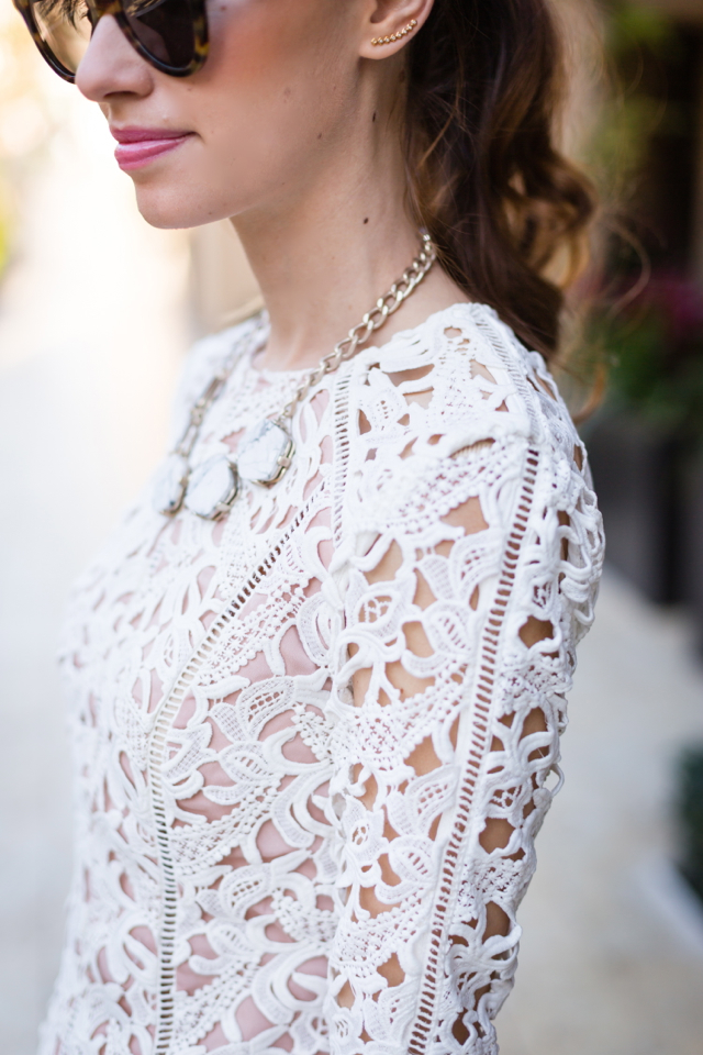 long sleeve lace top M Loves M @marmar