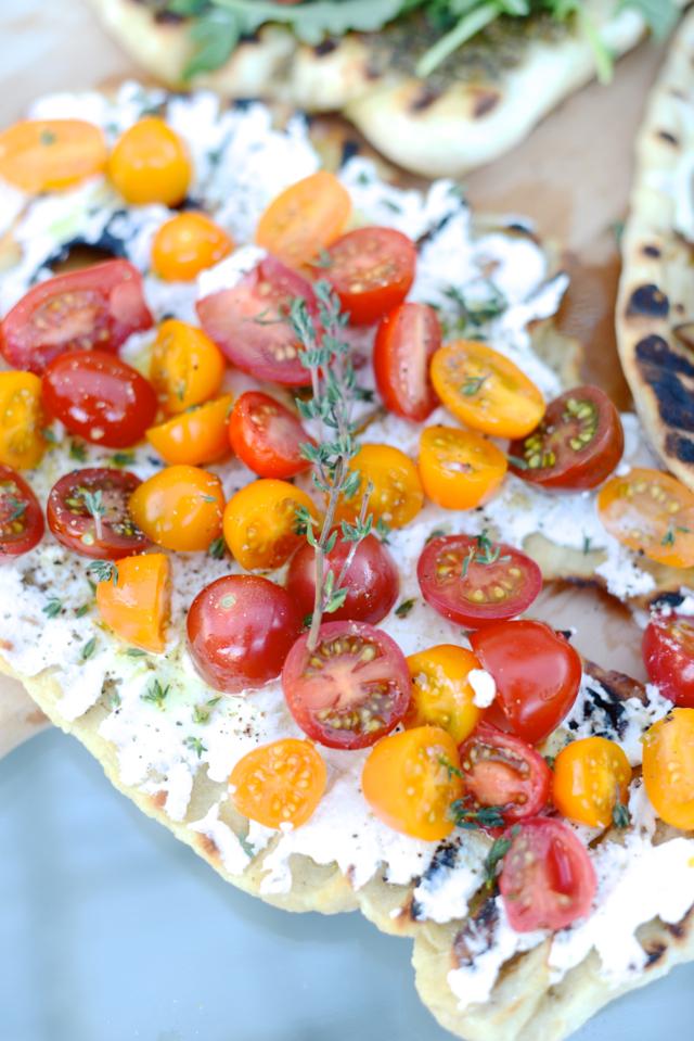 ricotta and cherry tomato pizza recipe M Loves M @marmar