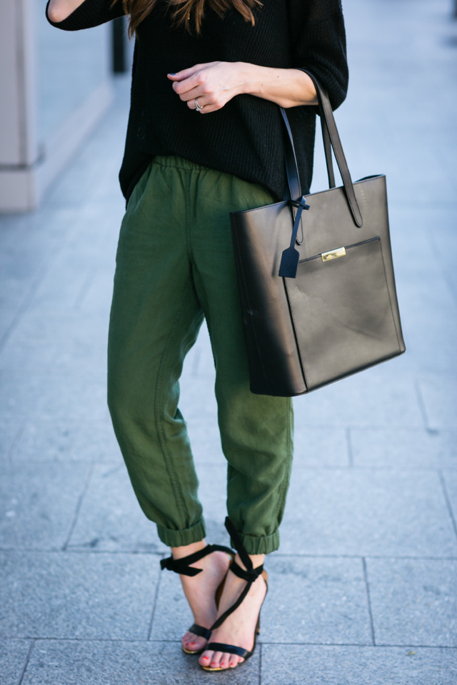 black and army green outfit M Loves M @marmar