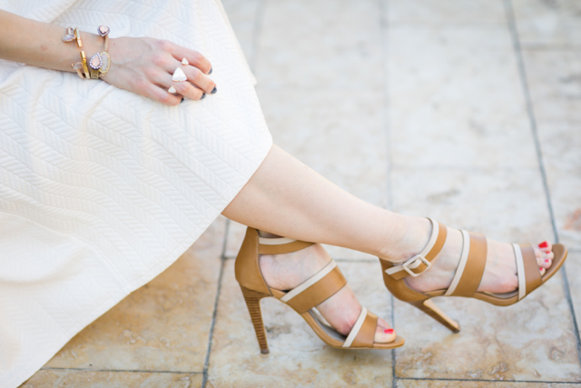 two tone brown and cream sandals M Loves M @marmar