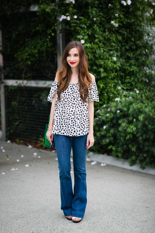 styling flared jeans for summer M Loves M @marmar