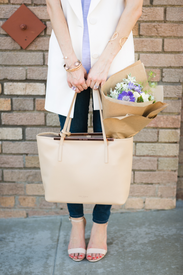 nude sandal heels with jeans and ted baker tulip tote M Loves M @marmar