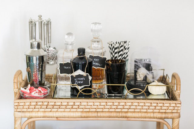 halloween bar cart inspiration M Loves M @marmar