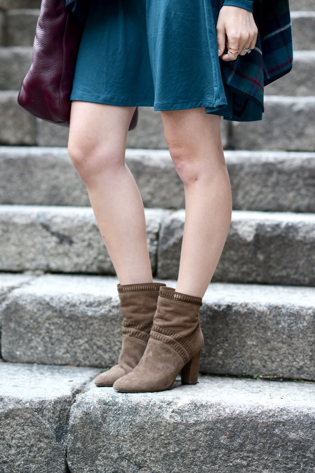 brown suede heeled booties from Isola M Loves M @marmar