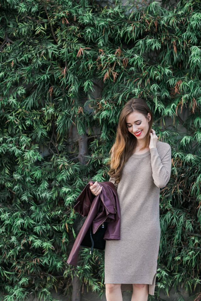 long sleeve knit dress on M Loves M Los Angeles blogger @marmar