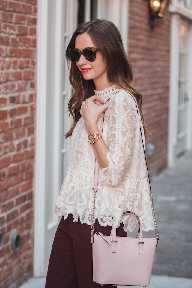feminine lace blouse from anthropologie on M Loves M @marmar