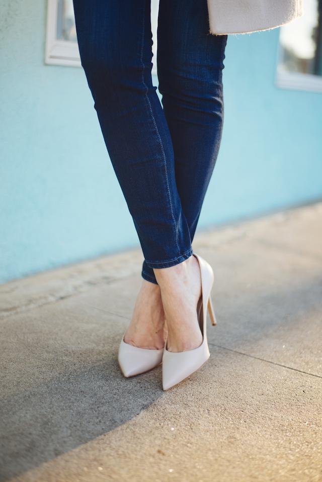 dark jeans with nude heels M Loves M @marmar