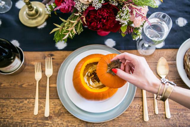 butternut squash soup served in pumpkins M Loves M @marmar