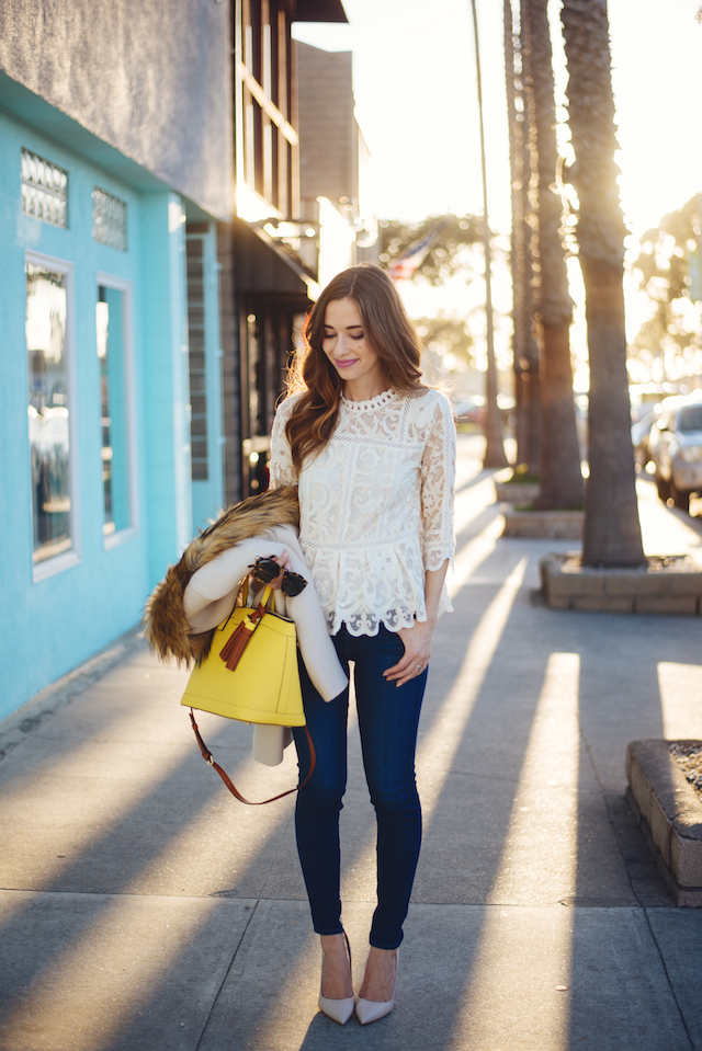 lace blouse with jeans M Loves M @marmar