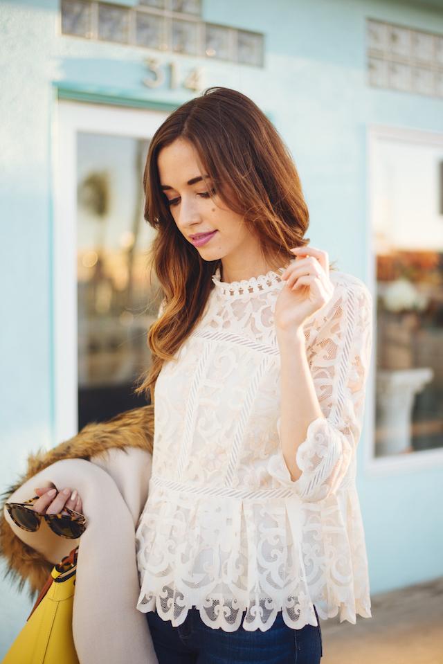 feminine lace peplum blouse M Loves M @marmar