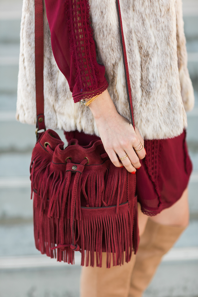 burgundy fringe patricia nash bucket bag M Loves M @marmar