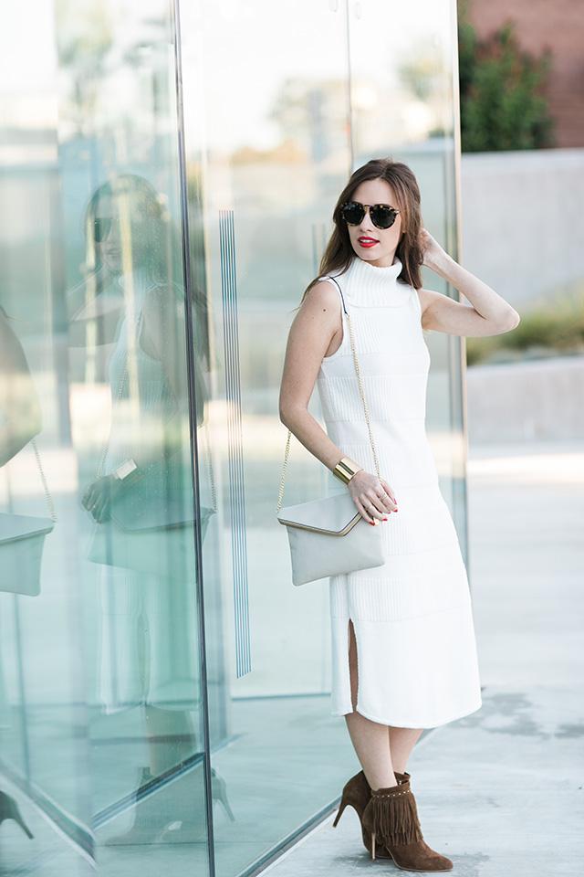 cream turtleneck dress from anthropologie on M Loves M