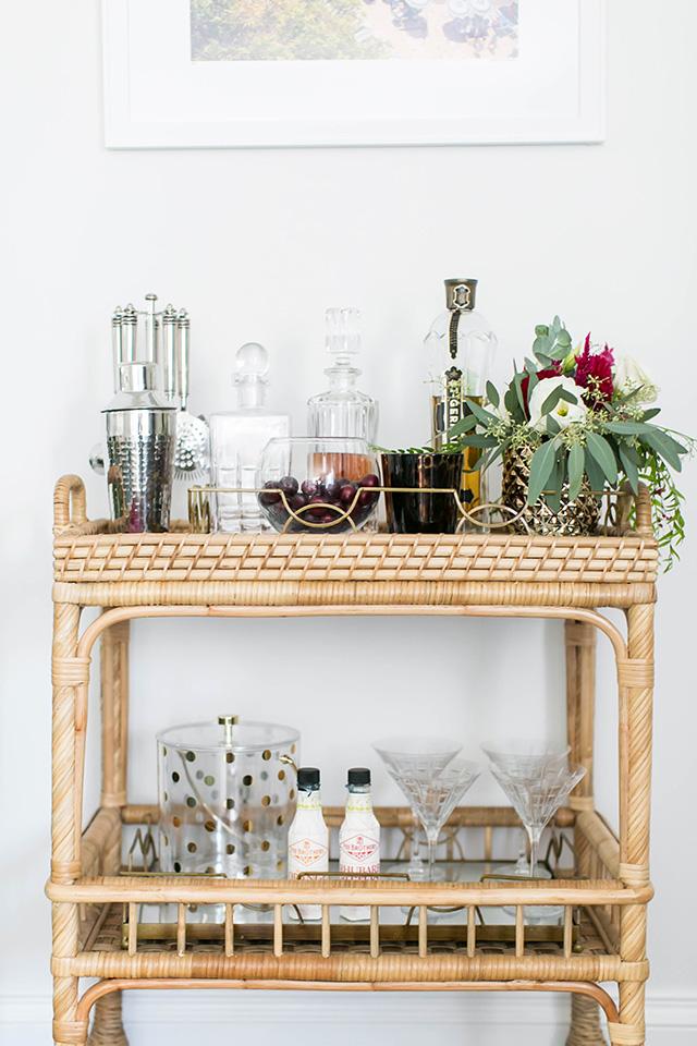 holiday bar cart styling idea M Loves M