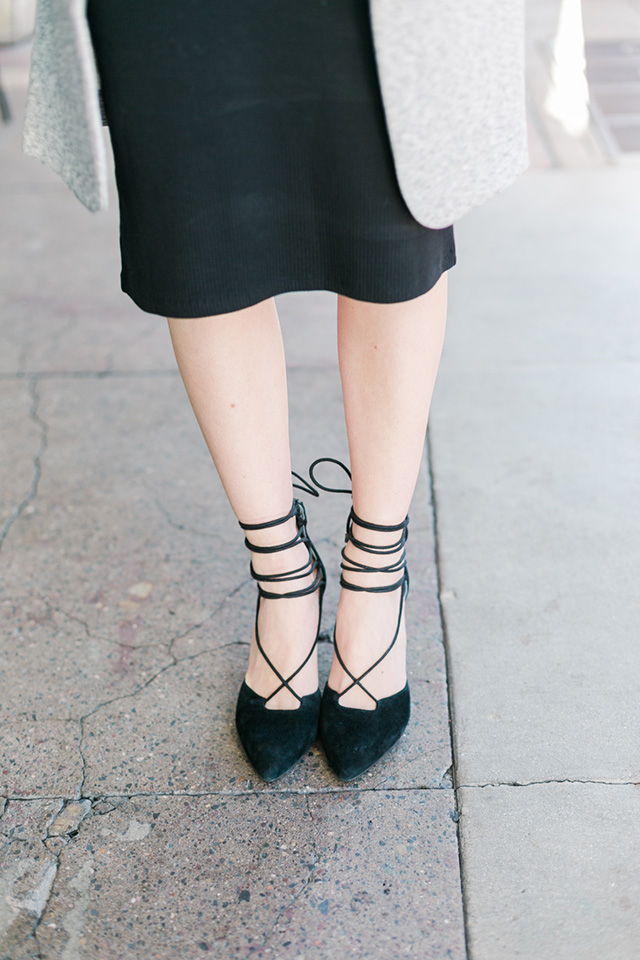 black lace up bauble heels by seychelles M Loves M