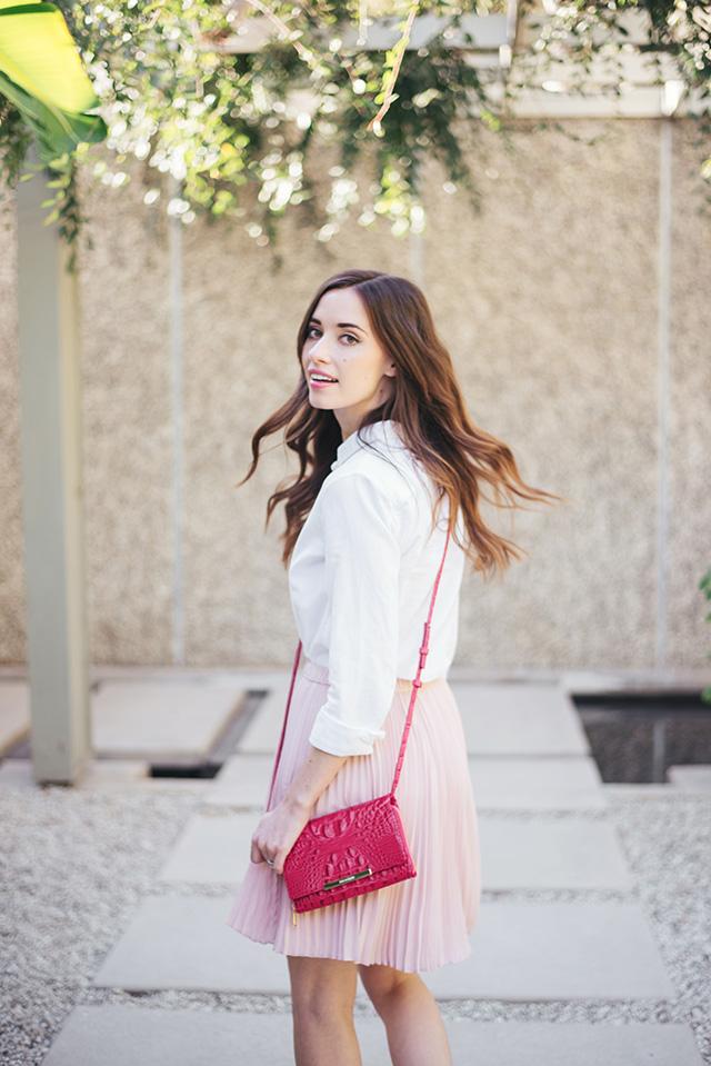 bright pink brahmin crossbody bag M Loves M