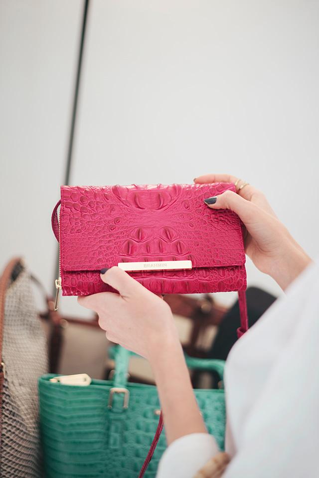 punchy pink crossbody bag by Brahmin M Loves M