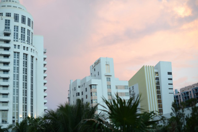 sunset in miami south beach M Loves M