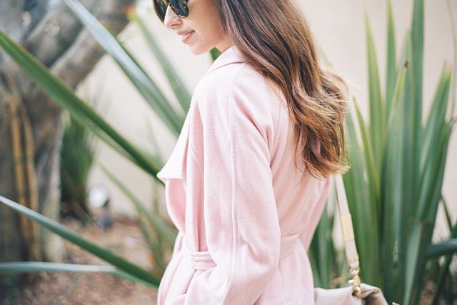 pink wool coat M Loves M