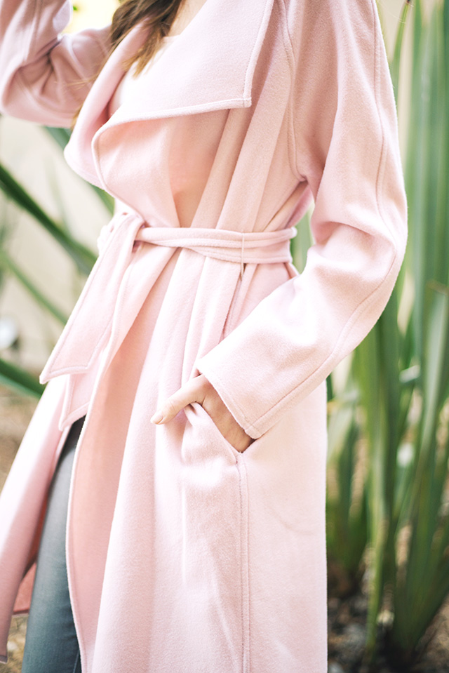 pink wool wrap coat from GUESS on M Loves M