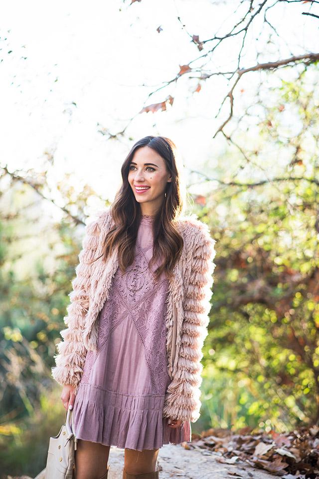 bohemian pink dress M Loves M