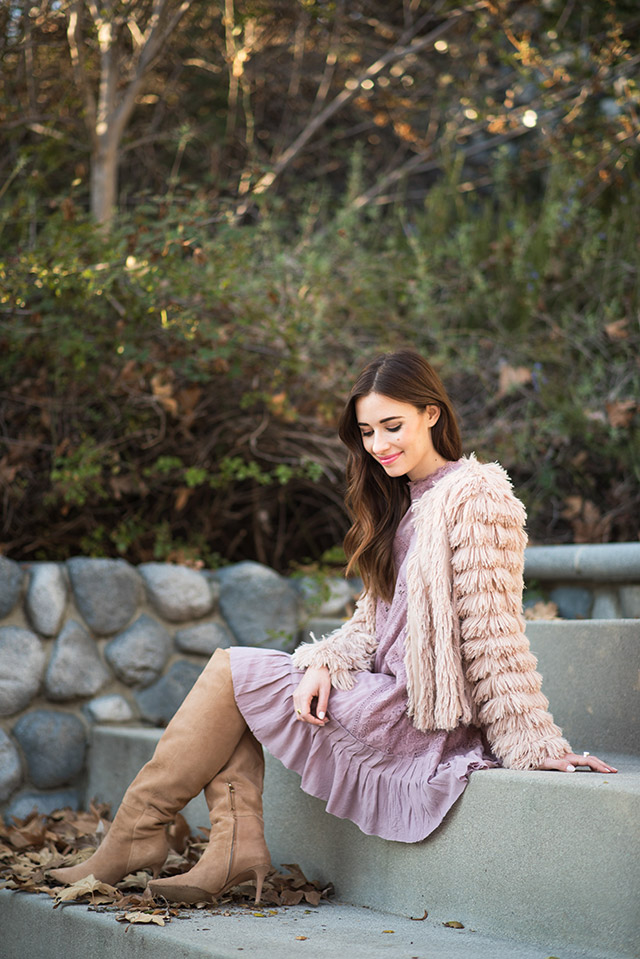 pink free people dress with raye the label over the knee boots M Loves M