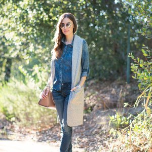 styling denim on denim outfit inspiration M Loves M
